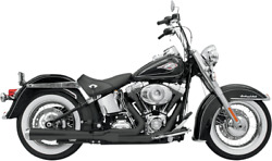 Bassani Black 2-1 Road Rage Long Exhaust For 86-17 Harley Softail Fxs Flstf Fxst