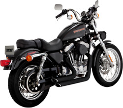 Vance & Hines Black 2-2 Shortshots Staggered Exhaust for 99-03 Harley Sportster