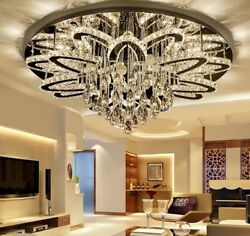 Led Chandeliers Chrome Brushed Stainless Modern Remote Control Dimmable Lighting