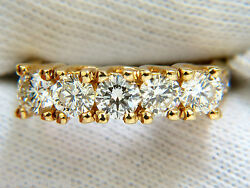 1.82ct Diamonds Band Ring With Pave On Shoulders Raised 14kt+
