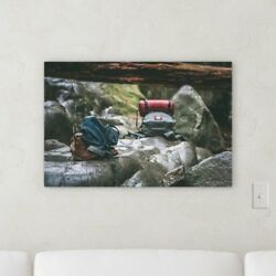 Ebern Designs 'Backpack' Photographic Print on Canvas