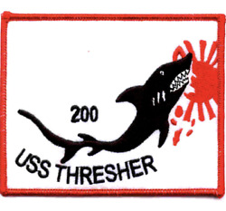 5 Navy Uss Thresher Ss-200 Embroidered Patch