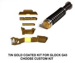 For Glock 43 43x 48 Tin Gold Coated Guide Rod And Control Kit. Choose Kit