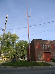 70 possibly more foot radio tower with antennas