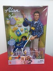 Alan And Ryan Happy Family Barbie Doll Ken Tommy Dad And Son Stroller Midge