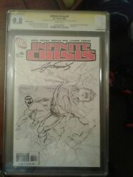 Infinite Crisis 5 Blue Beetle Signed By George Perez Cgc 9.8 Second Print