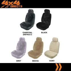 Single 16mm Sheepskin Wool Car Seat Cover For Holden Hsv Avalanche