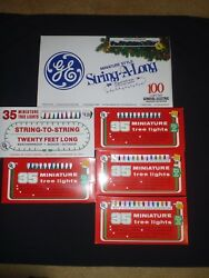 Vintage Lot Of 6 Boxes Christmas Lights Clear White Indoor Outdoor New Nos Box