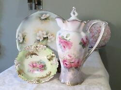 Rs Prussia Chocolate Pot Candy Dish And Bread Plate