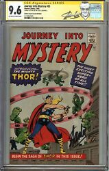 Journey Into Mystery #83 CGC 9.6 NM+ SIGNED STAN LEE Origin 1st App THOR GRR