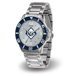 Tampa Bay Mlb Baseball Rays Key Watch With Stainless Steel Band