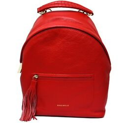 Woman backpack Coccinelle Leonie red leather rucksack new E1CN0140101R09 EU
