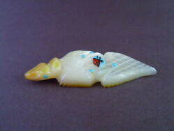 Golden Head Zuni Horned Toad Lizard With Sunface Fetish Carving Danette Laate 16