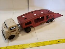 Structo Toys Auto Transport Truck And Trailer All Original Paint, Decals And Tires