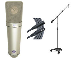 Neumann U87Ai Condenser Microphone + Ultimate Support Stand + Mogami Cable