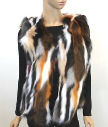 Women's Faux Fur Vest Mink Fur Vest Multicolored Fun Party Winter