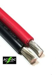 8 Awg Gauge Marine Tinned Copper Battery Cable Boat Wire 100and039 Red / 100and039 Black