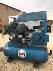 QUINCY AIR CLIMATE CONTROL INDUSTRIAL COMPRESSOR TANK RECIPROCATING 25 HP 5120