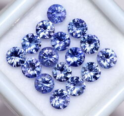 Certified Natural Tanzanite 4 Mm Round Cut Lustrous Faceted Loose Gemstone Lot