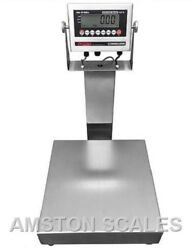 Stainless Steel 2and039 X 2and039 1000 Lb Digital Scale Shipping Food Warehouse Bench Op