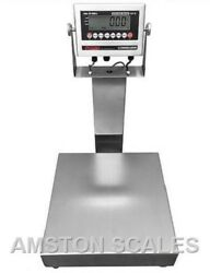 Stainless Steel 16x16 300 Lb Digital Scale Shipping Food Warehouse Bench Op
