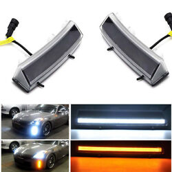 Switchback LED Front Bumper Reflector DRL and Amber Signal For 06-09 Nissan 350Z