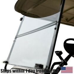 Clear Windshield Folding For Yamaha Golf Cart G29 2007-2016 Electric And Gas