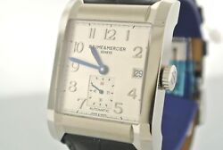 Baume And Mercier Hampton Automatic Menand039s Stainless Steel Watch M0a10026