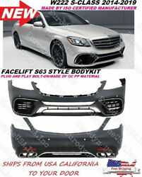 Mercedes Benz W222 S Class Amg Style 2018+ S63 S65 Body Kit Front Rear Bumper