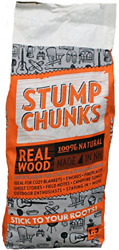 Stump Chunks 100% Natural Wood Fire Starter Large 1.5 cu. ft. Bag