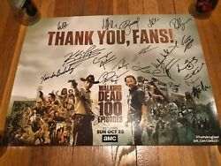 The Walking Dead Signed Poster 20x28 Andrew Lincoln Reedus Morgan Autograph Twd