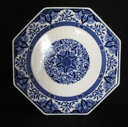 Minton Octagon Shaped Blue And White Plate W/ 1882 Date Mark