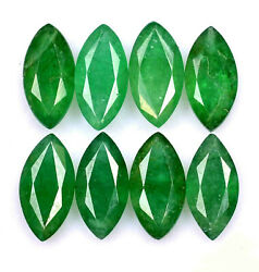 Certified Natural Emerald 4x8 Mm Marquise Cut Green Loose Faceted Gemstone Lot