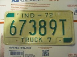 1924 INDIANA MOTORCYCLE LICENSE PLATE   repaint-restored FREE SHIPPING