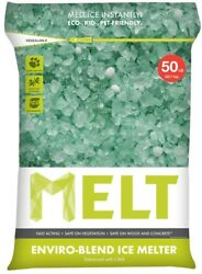 Eco Friendly Ice Melting Crystals Sidewalk De Icer 50 Lb Bag Kid and Pet Safe