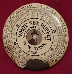 1909 Chicago White Sox And Cubs Schedule Advertising Pocket Mirror W Comiskey Old