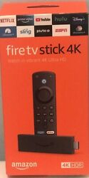 AMAZON FIRE TV STICK 4K WITH NEW ALEXA VOICE REMOTE STREAMING PLAYER NEW IN BOX