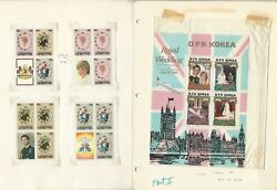British Stamp Royalty Collection, 7 Pages 1981 Princess Diana Mint Nh Ae