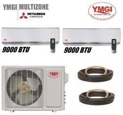 Ymgi 18000 Btu 1.5 Ton Two Zone Ductless Mini Split Air Conditioner System