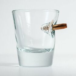 Original BenShot Bulletproof Shot Glass w Real Bullet Groomsmen Military Gift $16.90