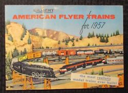 1957 Gilbert Toys American Flyer Trains And Accessories 48pg Catalog Vg/fn 5.0