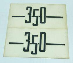 Pair Decals To Dry Logo Ducati 350 Side Panels Ad770129