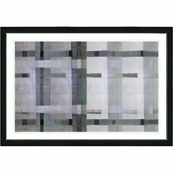 Studio Works Modern Framed Contemporary Fine Art Abstract Painting 'Afunda