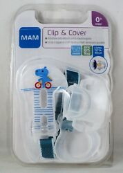 MAM Clip amp; Cover White Bearded Dragon Pacifier Case Pacifier Holder Cover Dummy