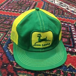 K Products John Deere Trucker Hat Green And Yellow