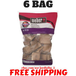 6 BAG - Weber Mesquite Wood Chunks 350 Cu. In. bag