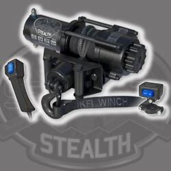 Kfi Products Stealth Winch 3500 Lb Synthetic Cable Rope Atv Utv Handlebar Switch