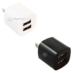 1-100 Lot Fast Dual 2 Port Wall Charger For Apple Iphone 8 / 8s / 8 Plus / X
