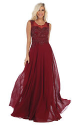 SPECIAL OCCASION FLOWY PROM DESIGNER FORMAL EVENING GOWN SLEEVELESS PARTY DRESS  $124.99