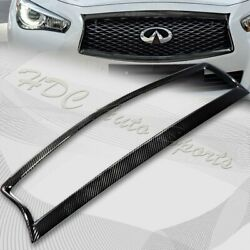 For 2014-2017 Infiniti Q50 Carbon Fiber Front Grille Grill Trim Overlay Cover